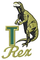 T Rex embroidery design