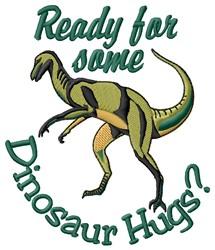 Dinosaur Hugs embroidery design