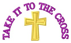 To The Cross embroidery design