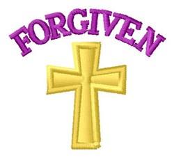 Forgiven embroidery design