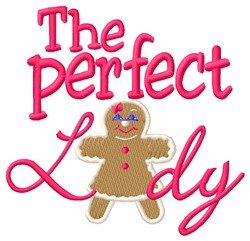 Perfect Lady embroidery design