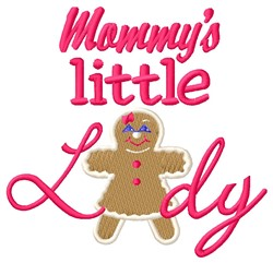 Mommys Lady embroidery design