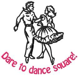 Dance Square embroidery design