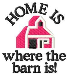 Home Barn embroidery design