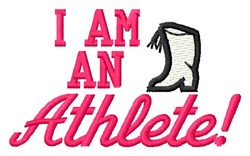 An Athlete embroidery design