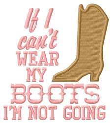 Wear My Boots embroidery design