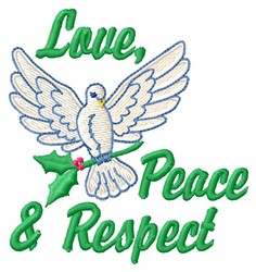 Peace & Respect embroidery design