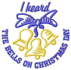 Heard The Bells embroidery design
