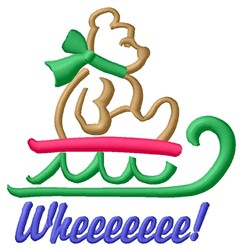 Wheeee! embroidery design