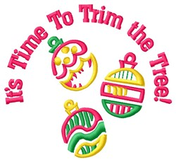 Trim The Tree embroidery design