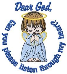 Dear God Listen embroidery design