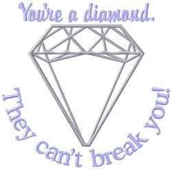 Youre A Diamond embroidery design