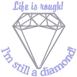 Life Is Rough embroidery design