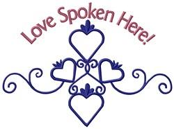 Love Spoken embroidery design