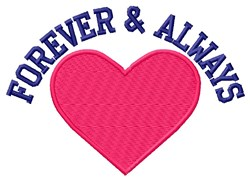 Forever & Always embroidery design