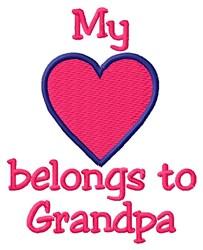 Grandpa Heart embroidery design