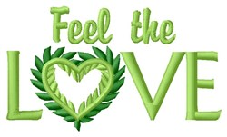 Feel The Love embroidery design