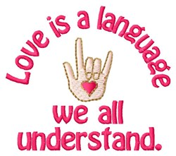 Love Language embroidery design