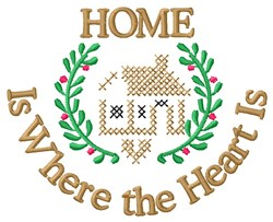 Heart Is Home embroidery design