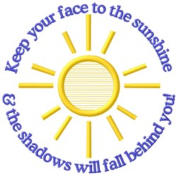 Face To Sunshine embroidery design