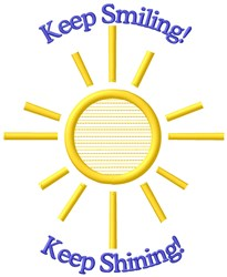 Keep Smiling embroidery design