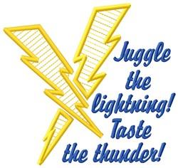 Taste Thunder embroidery design