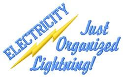 Organized Lightning embroidery design