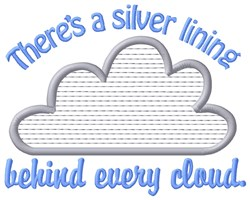 Silver Lining embroidery design