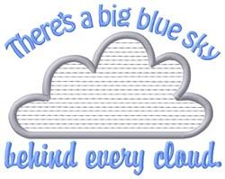 Blue Sky embroidery design