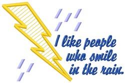 Smile In Rain embroidery design