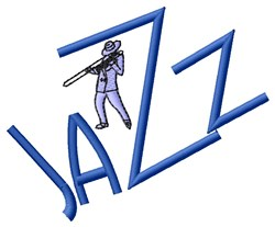 Jazz embroidery design