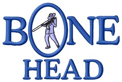 Bone Head embroidery design