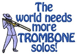 Trombone Solos embroidery design