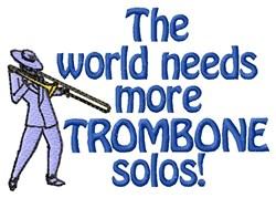 Trombone Solos embroidery design