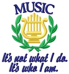Music What I Do embroidery design