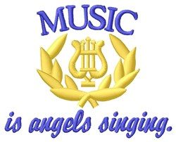 Angels Singing embroidery design