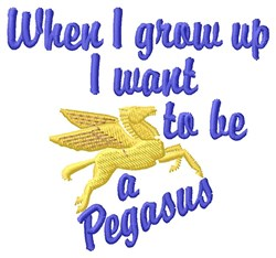 Be A Pegasus embroidery design