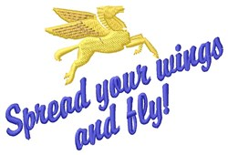 Spread Wings embroidery design