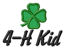 4-H Kid embroidery design