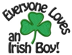 Irish Boy embroidery design