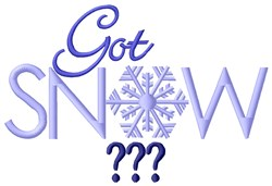 Got Snow? embroidery design