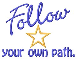 Follow Path embroidery design