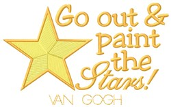 Paint Stars embroidery design