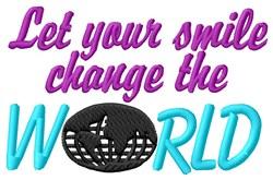 Smile Change World embroidery design