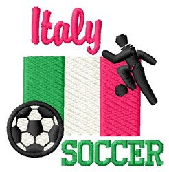 Soccer Italy embroidery design