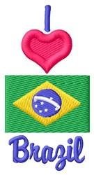 Love Brazil embroidery design
