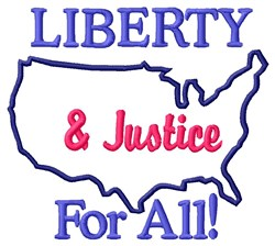 Liberty & Justice embroidery design