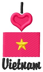 Love Vietnam embroidery design