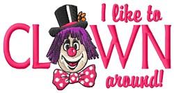Clown Around embroidery design
