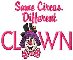 Circus Clown embroidery design